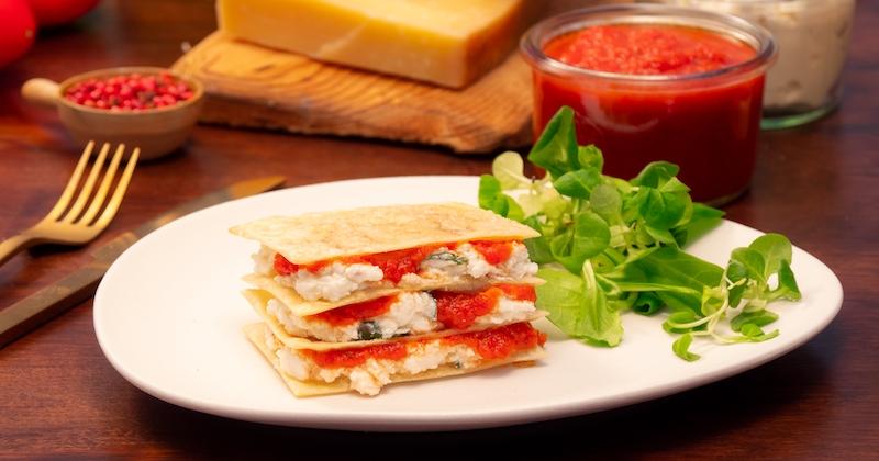Mille-feuilles de lasagnes Recette
