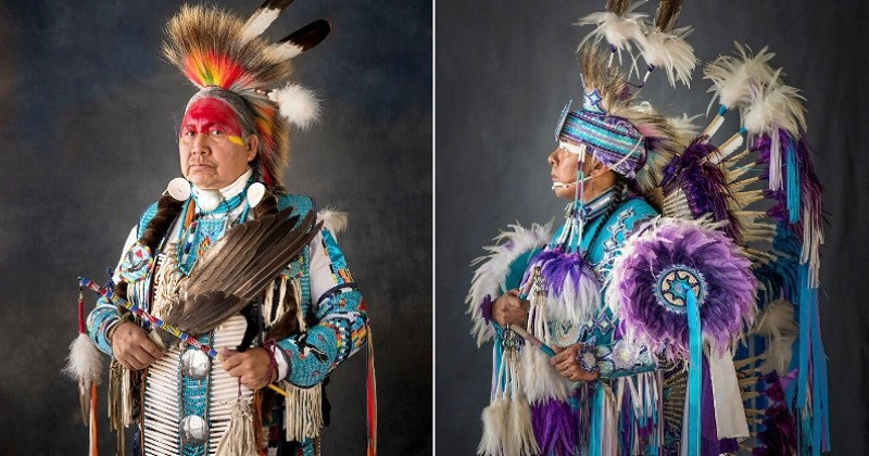 Il photographie des Amérindiens en tenues traditionnelles et le résultat est juste magnifique