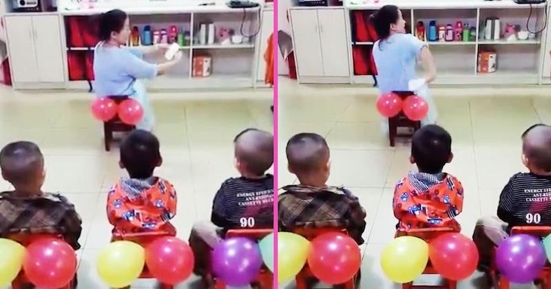 Une maîtresse d'école fait le buzz sur Twitter dans une vidéo où elle enseigne aux enfants comment s'essuyer les fesses avec... des ballons gonflables