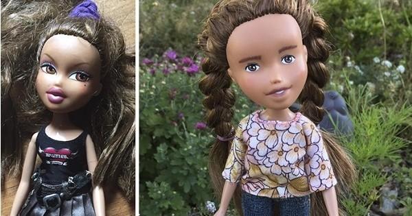 Elle redonne un look bien plus réaliste et naturel à des poupées pour les libérer de leur hypersexualisation