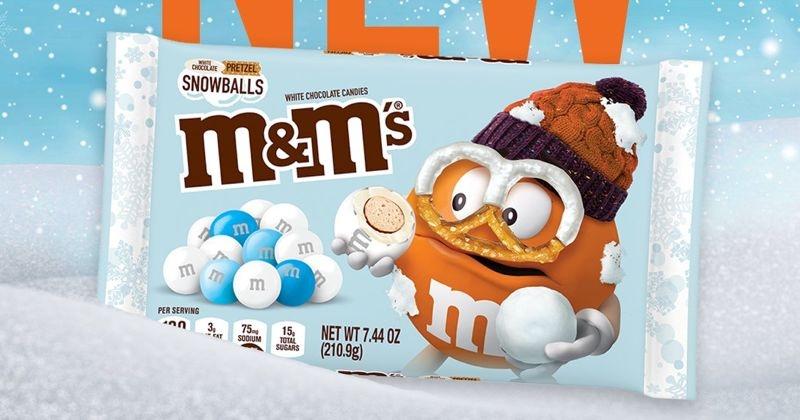 M&M's dévoile une nouvelle recette au chocolat blanc et bretzel pour cet hiver
