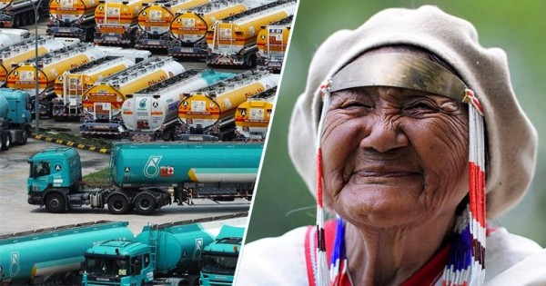 Cette compagnie pétrolière propose 1 Milliard de $ à cette tribu amérindienne pour qu'ils les laissent construire un pipeline. Ils ont réagi de la meilleure des manières !