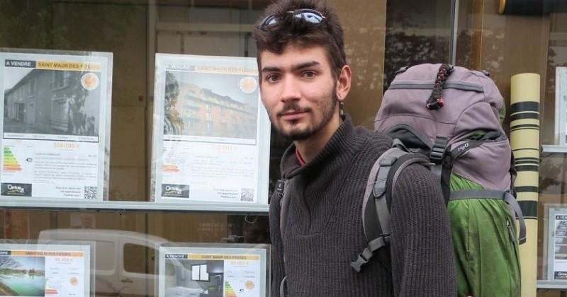 Voici Nicolas, un SDF de 20 ans qui a affiché une annonce dans les gares du RER A pour trouver un logement
