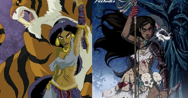 Et si les personnages féminins de Disney étaient méchants ? Voilà ce que ça donnerait...