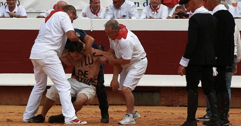 Lors de la feria de Dax, des militants anti-corrida ont interrompu une corrida en sautant dans l'arène