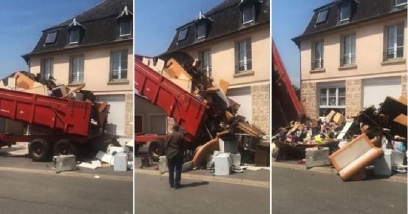 « Retour à l'envoyeur »: Un propriétaire se venge des locataires qui ont saccagé son appartement en déversant leurs détritus devant leur nouvelle habitation