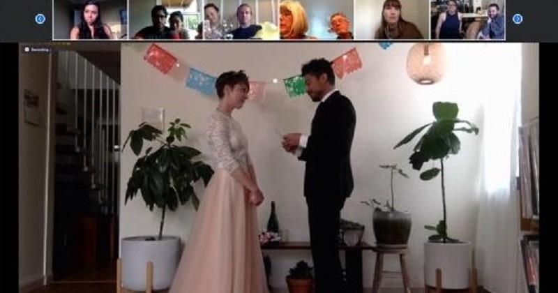 Aux États-Unis, un couple s'est marié sur Zoom pendant l'épidémie de coronavirus