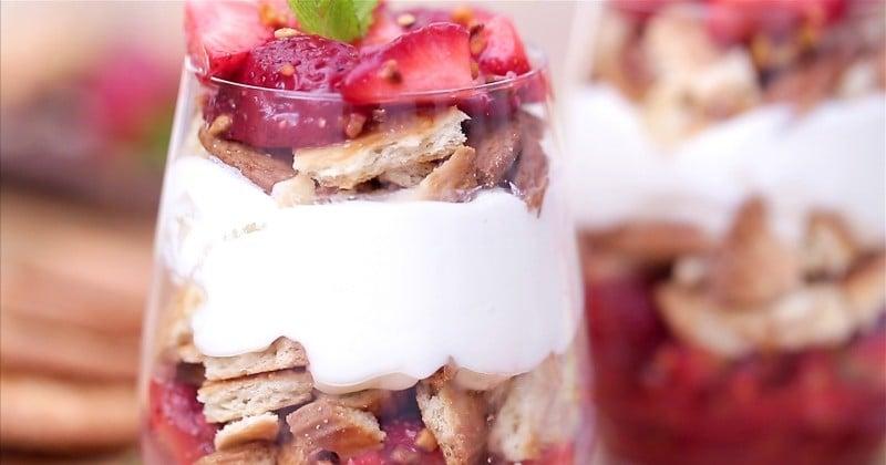 Retrouver la saveur d'une tarte aux fraises dans une verinne, faisable ou pas ? Tentez l'expérience !