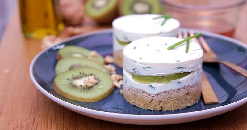 Surprenez vos convives avec un incroyable cheesecake salé au Kiwi de l'Adour IGP!