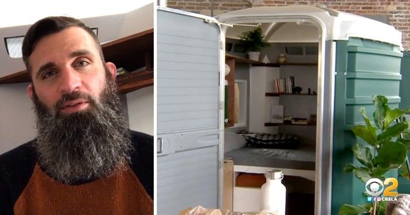 Cet ancien sans-abri américain transforme d'anciennes toilettes publiques... en véritables petites maisons habitables !