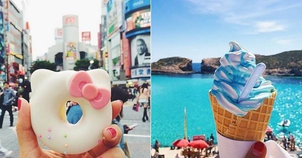 Elle voyage dans le monde entier et poste des photos de ce qu'elle mange