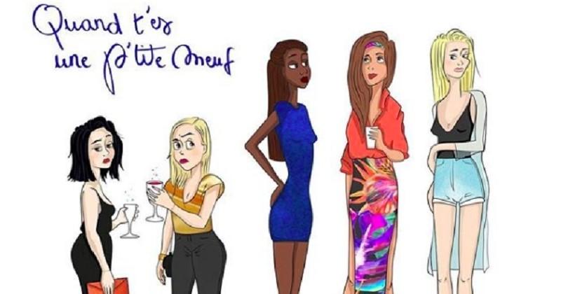 Elle illustre le quotidien des filles petites et ça sent le vécu !