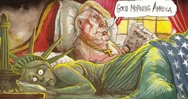La victoire de Donald Trump parfaitement résumée par 24 caricatures de presse...