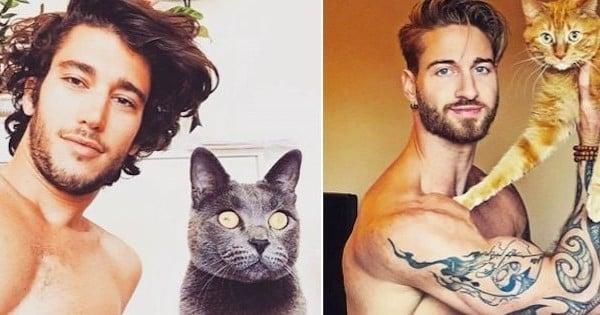 des mecs sexy et des chatons c 39 est le combo charme venant d 39 instagram qu 39 on vous propose en. Black Bedroom Furniture Sets. Home Design Ideas