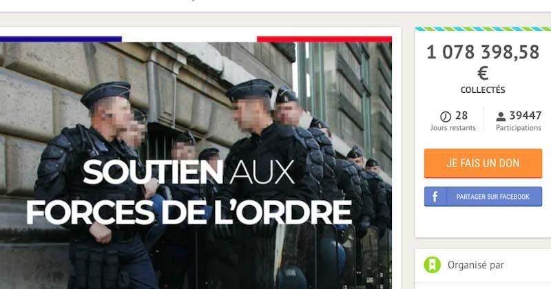 Le cap du million d'euros dépassé sur la cagnotte en soutien aux policiers
