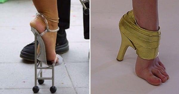 Ces 20 chaussures totalement barrées vont vous donner mal aux pieds rien qu'en regardant les photos...