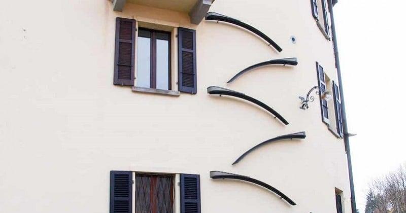 Des escaliers sur les façades des bâtiments en Suisse pour permettre aux chats de rentrer et sortir librement