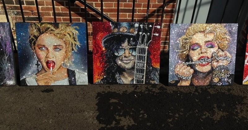 Trilli, une artiste qui réalise des portraits époustouflants avec des paillettes et de la colle