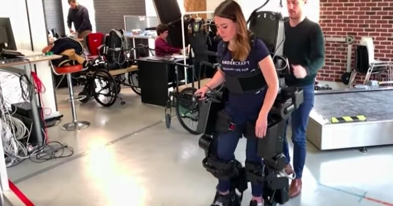 Un exosquelette révolutionnaire, qui permet aux paraplégiques de marcher, est actuellement testé en centre de rééducation