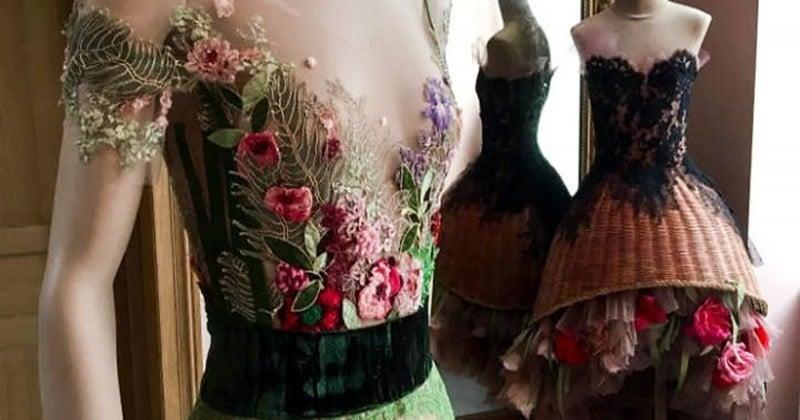 Cette créatrice confectionne des robes fabuleuses et uniques en leur genre