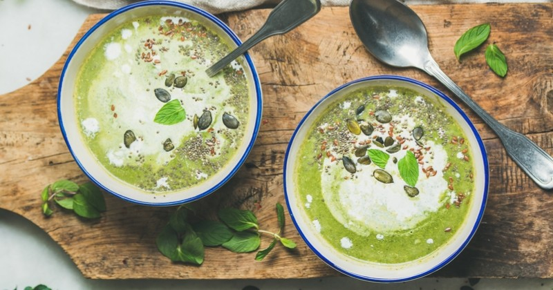 soupe brocolis lait de coco et curry super onctueuse !