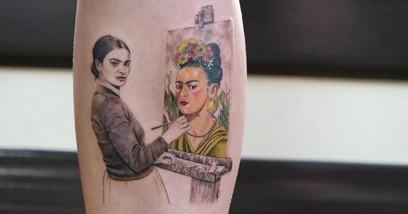 Une tatoueuse reproduit des oeuvres d'art sur la peau de clients amoureux d'art