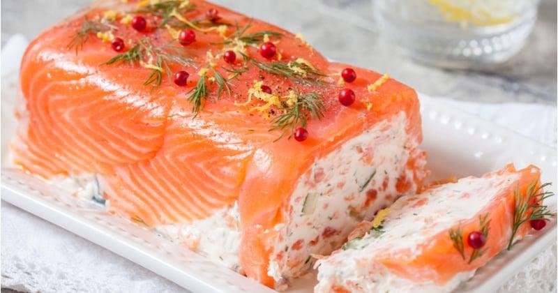 Terrine au saumon fumé et au fromage frais