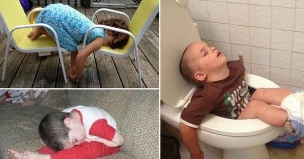 31 photos d 39 enfants capables de dormir n 39 importe quand n 39 importe o mais comment ils font. Black Bedroom Furniture Sets. Home Design Ideas