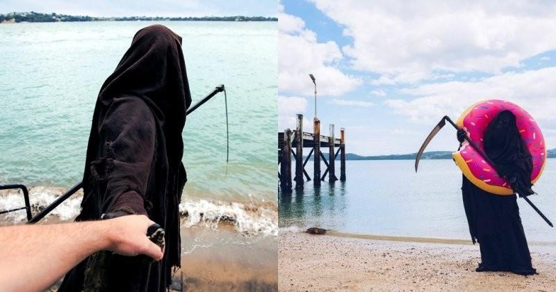 Voici le compte Instagram officiel de la Mort, et les photos de ses vacances à la plage