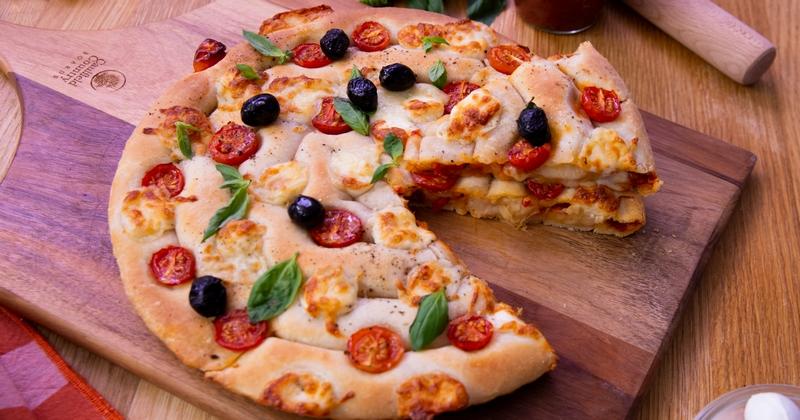 Laissez-vous surprendre par notre étourdissante pizza tourbillon