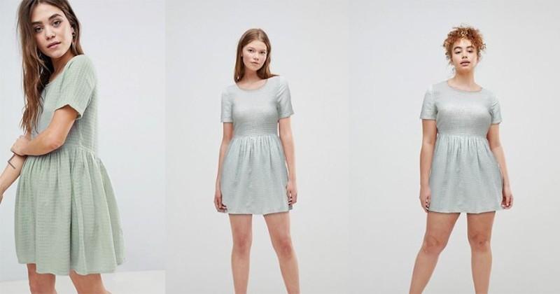Body Positive : Asos frappe fort en donnant la possibilité de voir le même vêtement sur différentes morphologies !
