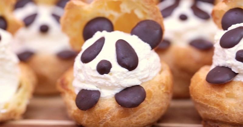 Ces choux en forme de panda vont vous rendre totalement gaga!