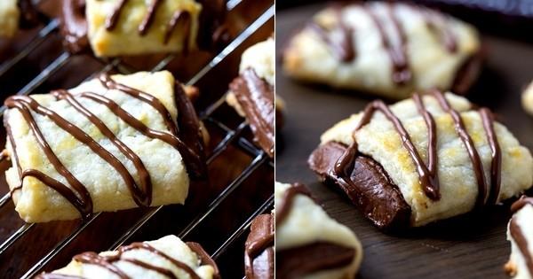 mini-feuilletés fourrés au chocolat