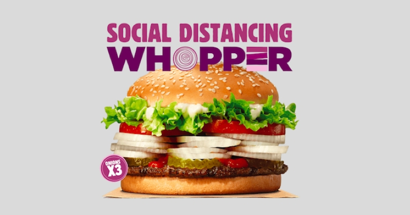 Burger King invente un Whopper triple oignon pour garder «une distanciation sociale»