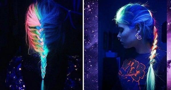 Maintenant, vous pouvez avoir des cheveux... qui brillent dans le noir ! Découvrez comment