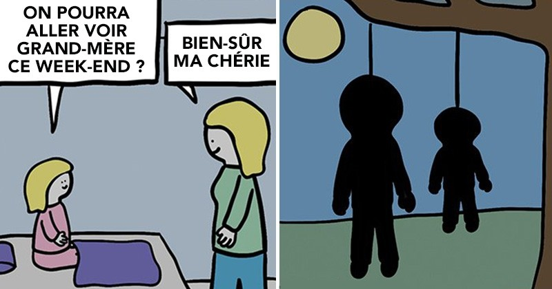 19 Illustrations Teintees D Humour Noir Avec Des Chutes Vraiment Inattendues C Est A Mourir De Rire