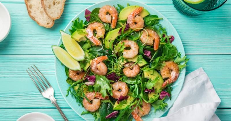salade detox aux crevettes