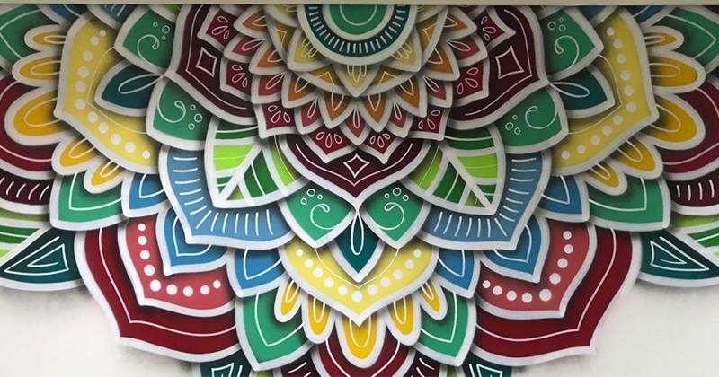 Des mandalas tout en couleur réalisés par un as du graffiti !