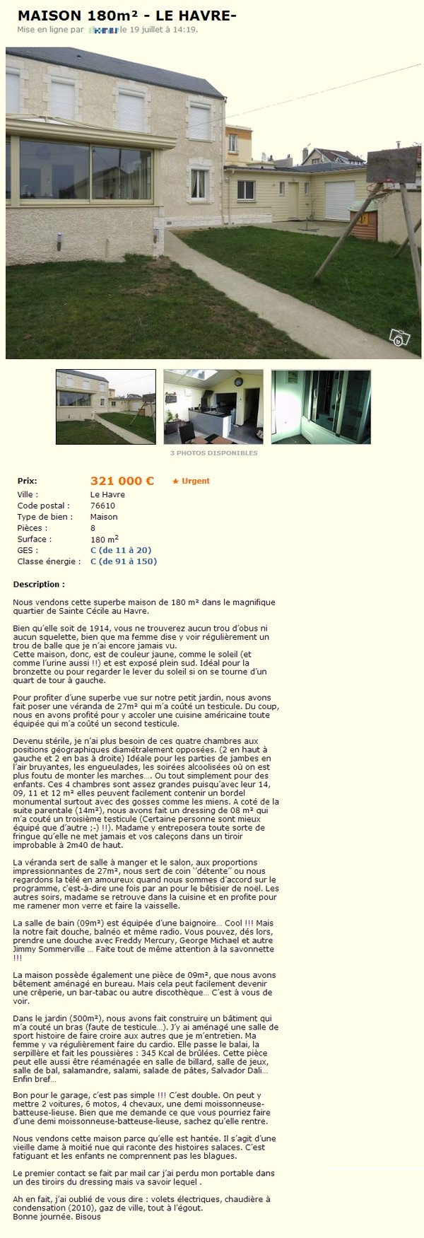 Le Bon Coin Cuisines Equipees la pire annonce pour vendre une maison sur le bon coin