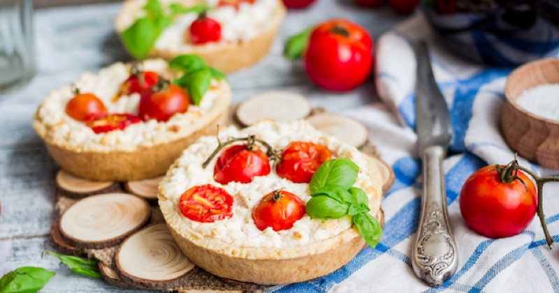 tartelettes tomates cerises et fromage frais