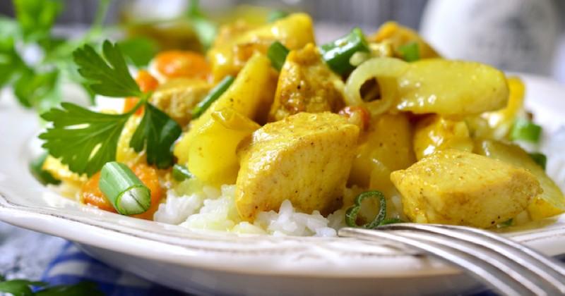 curry de dinde et pommes