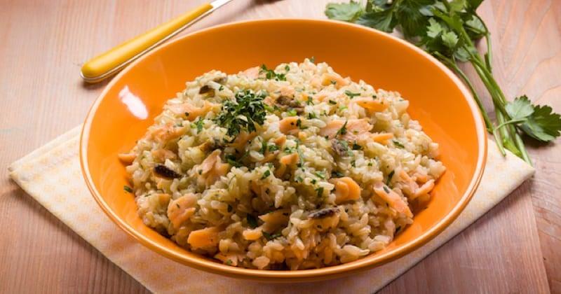 risotto de saumon fumé