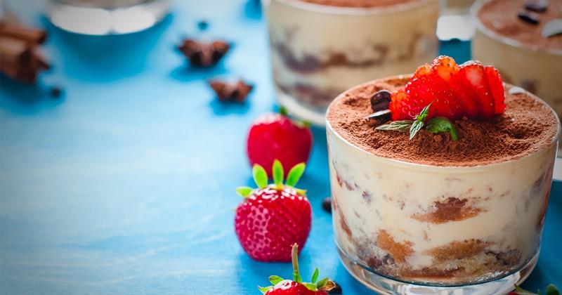 Tiramisu aux fraises et chocolat