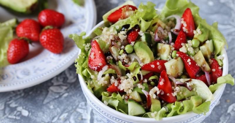 salade de fraises et quinoa