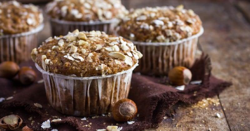 muffins au chocolat et flocons d'avoine