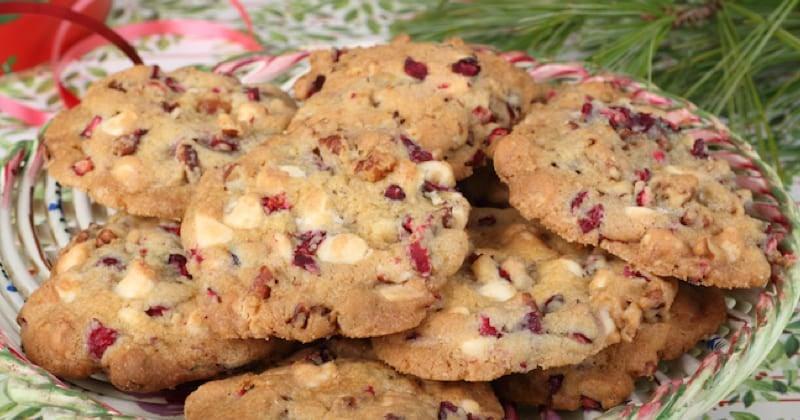 cookies au chocolat blanc et cerises