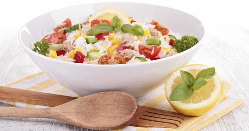 Salade de riz au fromage Recette