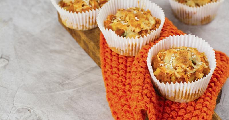 Muffins salés aux légumes râpés