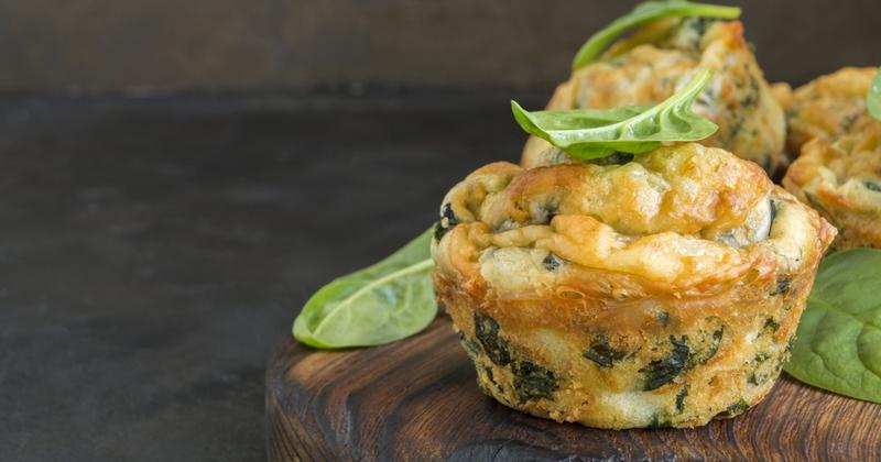 Muffins aux pommes de terre et épinards