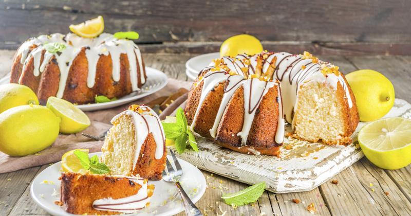 Bundt cake au citron et thé earl grey